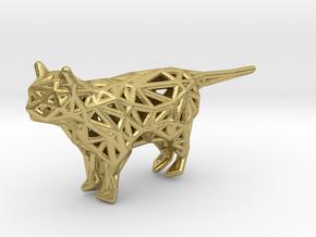 Cat in Natural Brass