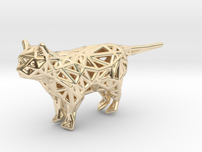 Cat in 14k Gold Plated Brass