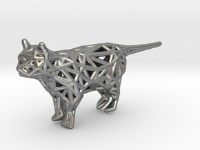 Cat in Natural Silver