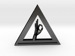 illuminatie-6 in Matte Black Steel