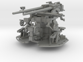 37 mm Flak C/30 auf Zwillingslaffette scale 1:100 in Gray PA12