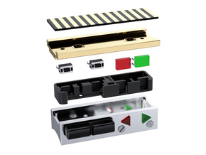 CU box switches holder in Black Natural Versatile Plastic