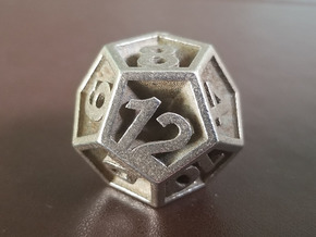D12 - Plunged Sides in Polished Bronzed Silver Steel
