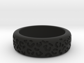 Leopard spot ring multiple sizes in Black Premium Versatile Plastic: 5 / 49