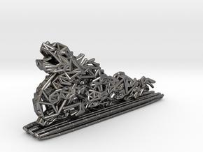 Dragon Statue in Polished Nickel Steel