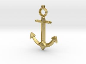 Anchor Pendant - Jaina - World of Warcraft in Natural Brass