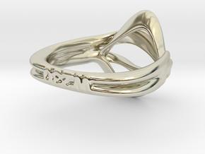 Neutra- Unisex Ring in 14k White Gold: 7.25 / 54.625