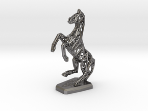 Horse in Polished Nickel Steel