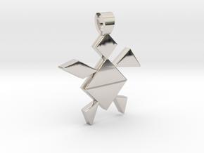 A turtle tangram [pendant] in Platinum