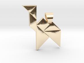 Camel tangram [pendant] in 14k Gold Plated Brass