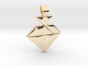 Strawberry tangram [pendant] in 14k Gold Plated Brass