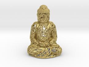 Buddha in Natural Brass