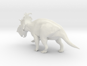 Pachyrhinosaurus 1:40 scale model in White Natural Versatile Plastic