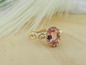 AB100 Sapphire/Diamond Ring in 14K Yellow Gold
