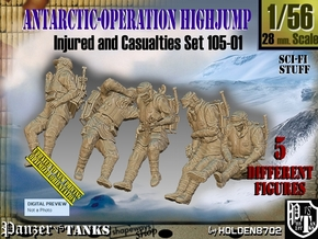 1/56 Antarctic Troops Set105-01 in Smooth Fine Detail Plastic