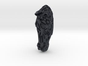 Horse Face + Half-Voronoi Mask (002) in Black Professional Plastic