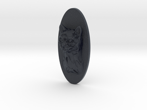 Cat Face + Half-Voronoi Mask (002) in Black PA12