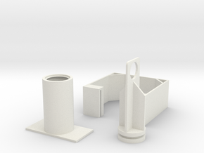 Single stroke finger operated vaccum pump in White Natural Versatile Plastic