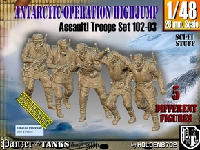 1/48 Antarctic Troops Set102-03 in Smooth Fine Detail Plastic