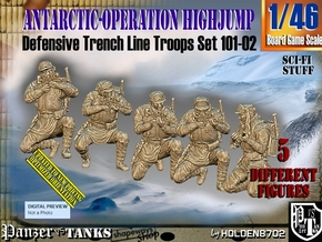 1/46 Antarctic Troops Set101-02 in Smooth Fine Detail Plastic