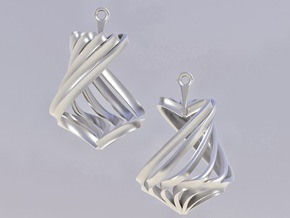 wave earrings in White Natural Versatile Plastic