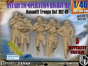 1/46 Antarctic Troops Set102-01 in Smooth Fine Detail Plastic