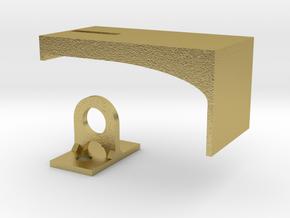 Padlock Hasp (compatible w/ IKEA MORLIDEN door) in Natural Brass