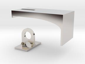 Padlock Hasp (compatible w/ IKEA MORLIDEN door) in Rhodium Plated Brass