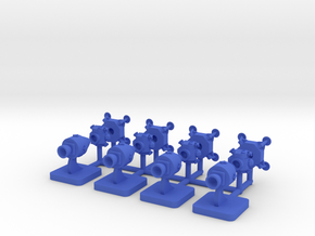 Lunar Game Pieces order v2, 15mm in Blue Processed Versatile Plastic