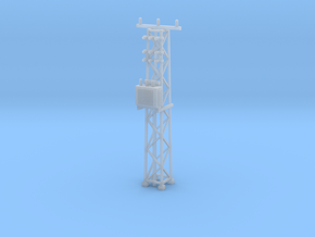 N Scale Distribution Transformer Pylon #2 in Smooth Fine Detail Plastic