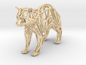 Racoon in 14k Gold Plated Brass