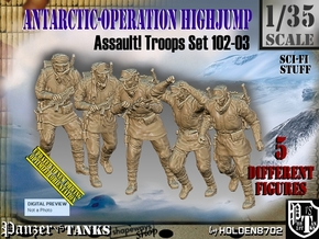 1/35 Antarctic Troops Set102-03 in Smooth Fine Detail Plastic