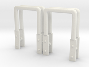 Boxcar steps assembly group 1:20,3 in White Premium Versatile Plastic