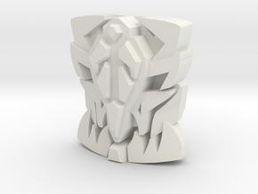 """Onyx Prime """"Beast Face"""" Matrix Plate in White Premium Versatile Plastic"""