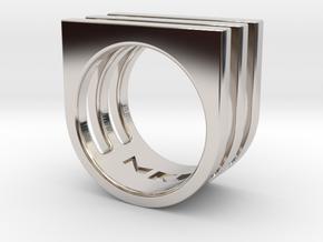 Ring - Triniti in Rhodium Plated Brass: 4 / 46.5