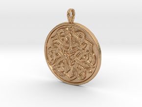 Jelling Style Medallion in Natural Bronze