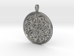 Jelling Style Medallion in Natural Silver