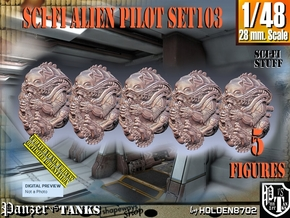 1/48 Sci-Fi Alien Pilots set103 in Smooth Fine Detail Plastic