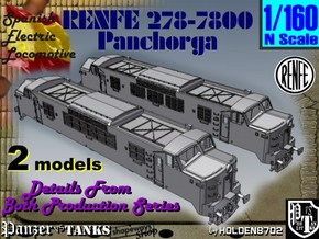 1-160 Renfe 7800 Panchorga Early + Late Types in White Natural Versatile Plastic