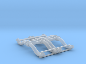 1:25 Custom Hot Rod Headers for Small Block Chevy in Smoothest Fine Detail Plastic