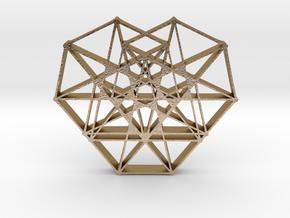 Heptaheart Hangerless Pendant in Polished Gold Steel