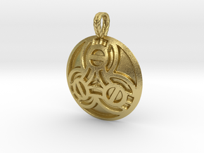 Borre Style Medallion with rope bail in Natural Brass