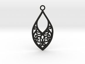 Edelmar pendant in Black Natural Versatile Plastic: Medium