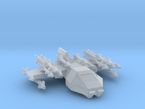 285 Scale Kzinti Large Attack Shuttle Fighter MGL in Smooth Fine Detail Plastic
