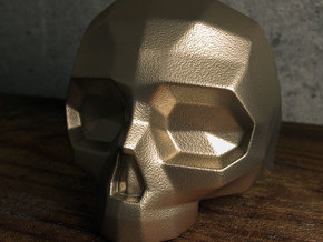 Lapidated Skull - Size 10 (inner diameter = 19.76  in Polished Bronzed Silver Steel