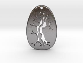 Morro Tree Pendant  in Polished Nickel Steel