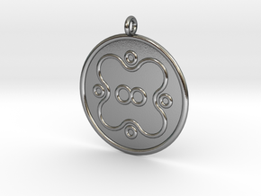 Microbiology Symbol in Polished Silver
