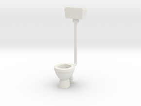 WC with Wall Cistern-- OO Scale in White Natural Versatile Plastic