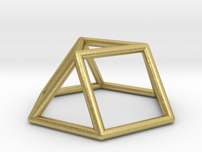 0725 J03 Triangular Cupola E (a=1cm) #1 in Natural Brass