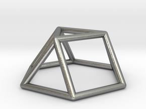 0725 J03 Triangular Cupola E (a=1cm) #1 in Natural Silver